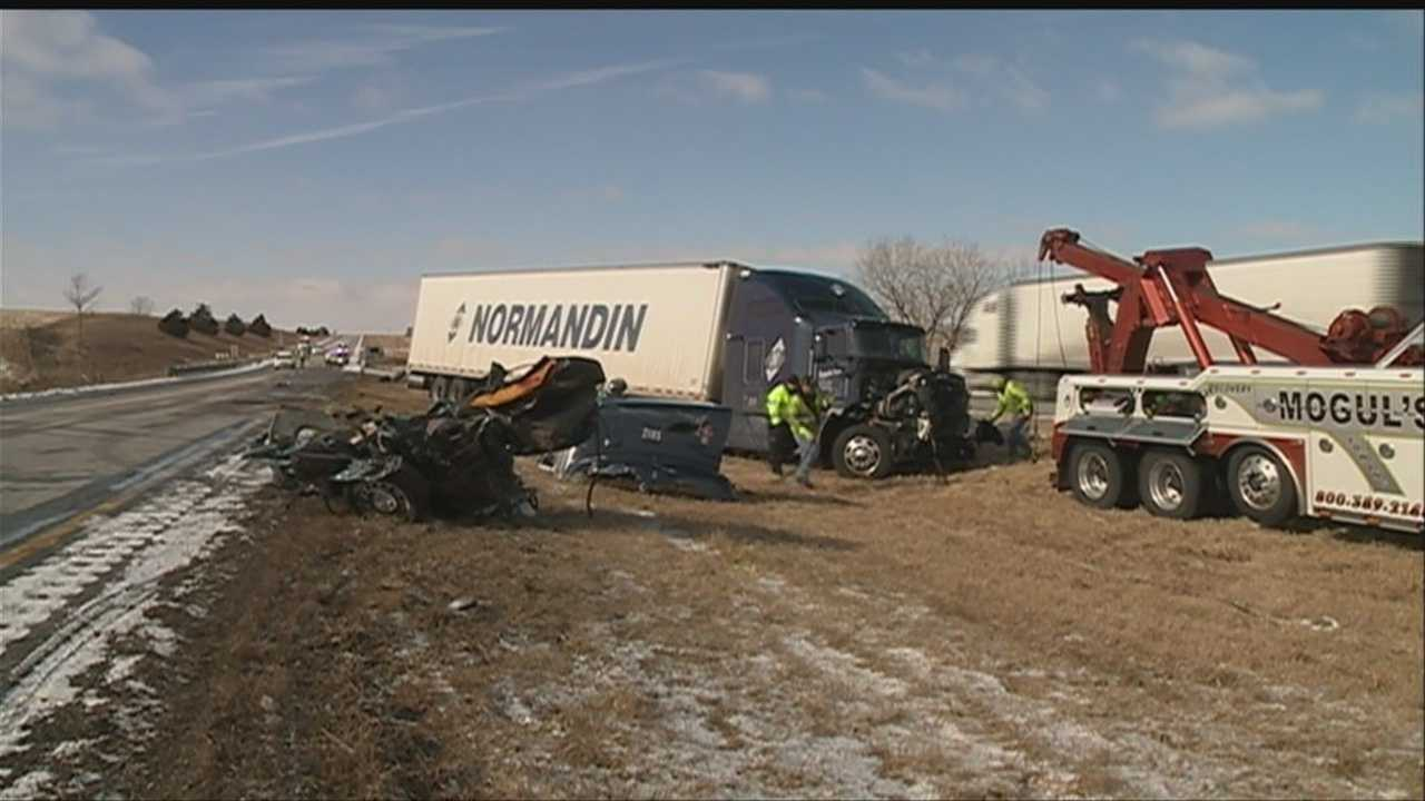 Troopers are blaming slick conditions for a Saturday morning crash that left three dead on Interstate 80.