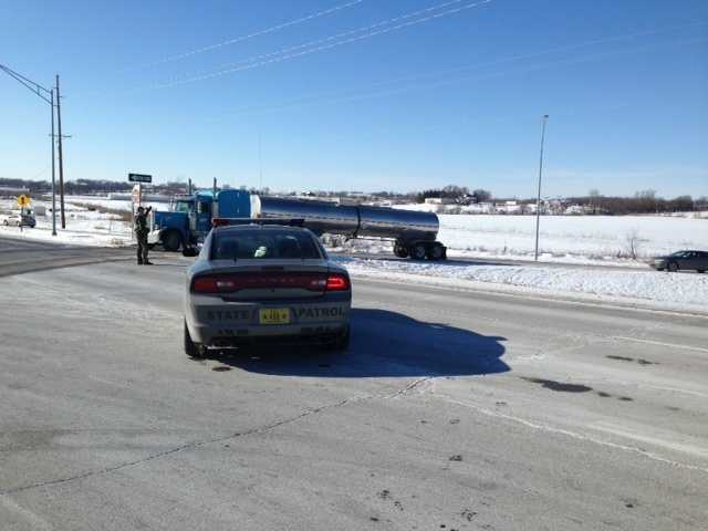 Traffic detoured off I-35 after chase suspect stops in interstate.