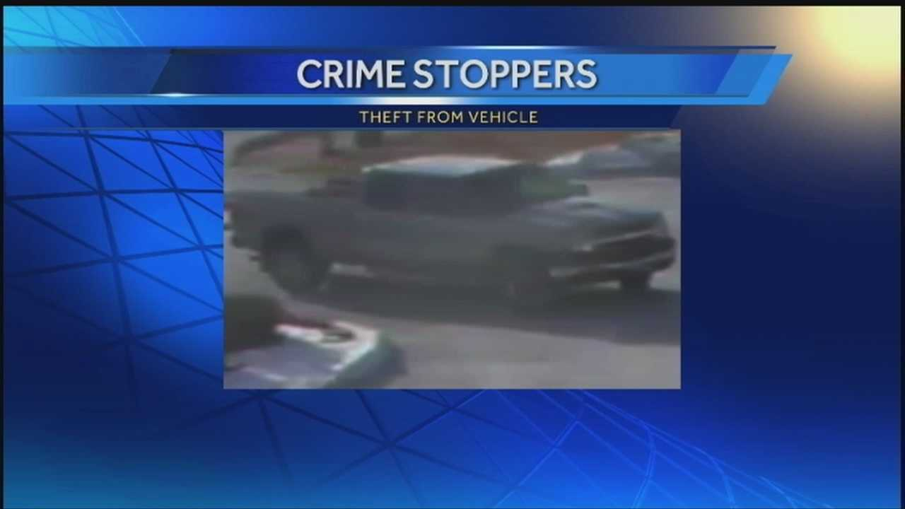 Man steals from truck bed