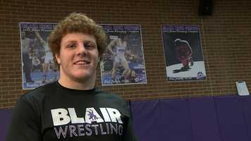 Will Schany, Blair High SchoolWill has a 3.93 grade point average and is a three sport athlete. He participates in football, wrestling, golf, B-Club, mentors students with special needs, and is a youth wrestling coach.