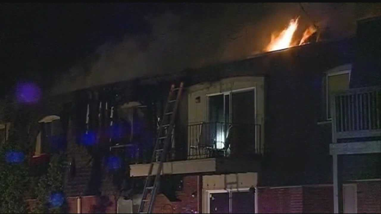 A Council Bluffs apartment building was evacuated after a fire broke out Friday night.