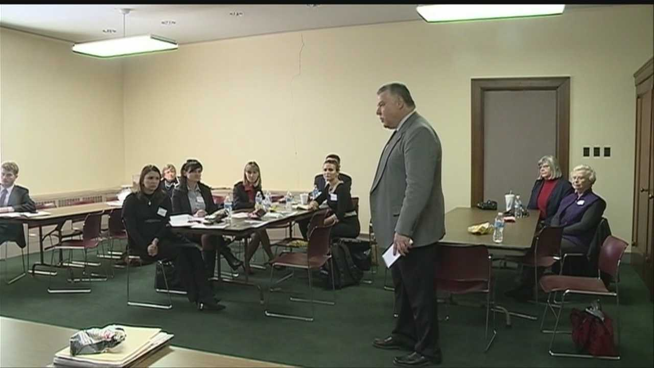 A delegation from Ukraine visited the Nebraska Capitol for lessons in democracy Wednesday.