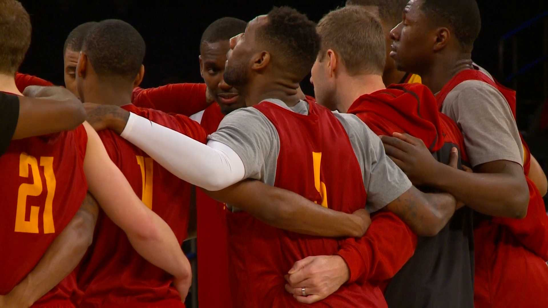 Cyclones work out at Madison Square Garden