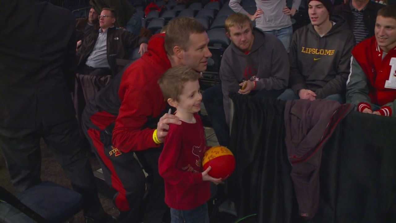Noah Miller is a 7-year-old fanatic who hasn't mastered multiplication, but knows every Iowa State Cyclone, all the way to the end of the bench.