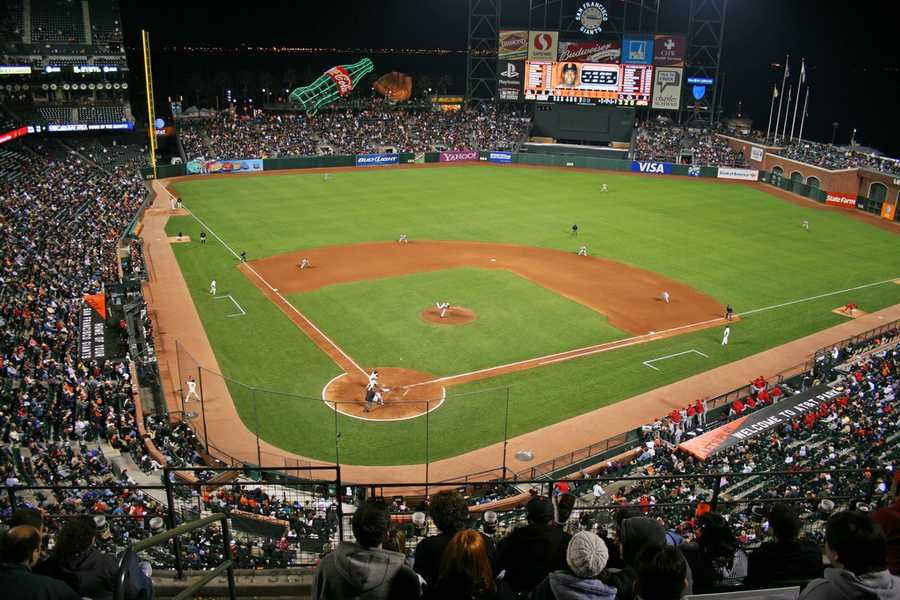 AT&T Park, home of the San Francisco Giants --$145 for messagedisplayedon scoreboard during weekday games --$175 formessage displayed on scoreboard during weekend and premium games