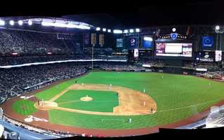 Chase Field, home of the Arizona Diamondbacks -- $250 for message displayed on scoreboard. Includes commemorative DVD.