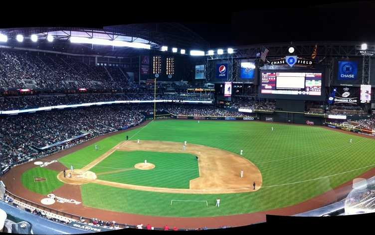 Chase Field, home of the Arizona Diamondbacks --$250 for messagedisplayedon scoreboard. Includes commemorative DVD.