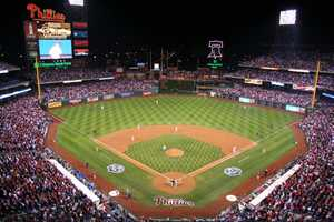 Citizens Bank Park, home of the Philadelphia Phillies -- $450 for proposal featured live on video board. Includes four tickets, champagne toast and commemorative.