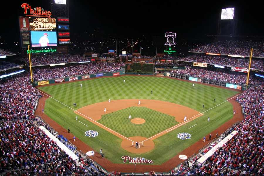 Citizens Bank Park, home of the Philadelphia Phillies -- $450 for proposal featured live on video board. Includesfour tickets, champagne toast and commemorative.