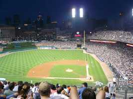 Comerica Park, home of the Detroit Tigers -- $50 for Paws, the team's mascot, to conduct a trivia contest at the couple's seats that ends in a surprise proposal. Includes baseball decorated with message and date. $75 for message displayed on scoreboard.