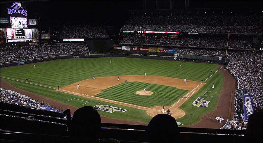 Coors Field, home of the Colorado Rockies--$50 for message displayed on scoreboard.