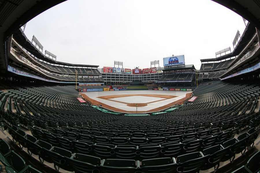 Globe Life Park, home of the Texas Rangers --$200 for message printed on sign delivered by Ranger's Captain, the team's mascot, along with a bouquet of flowers and a certificate featuring the date and the couple's names. Includes digital photos of the proposal.