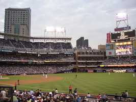 Petco Park, home of the San Diego Padres -- $55 for message displayed on scoreboard.