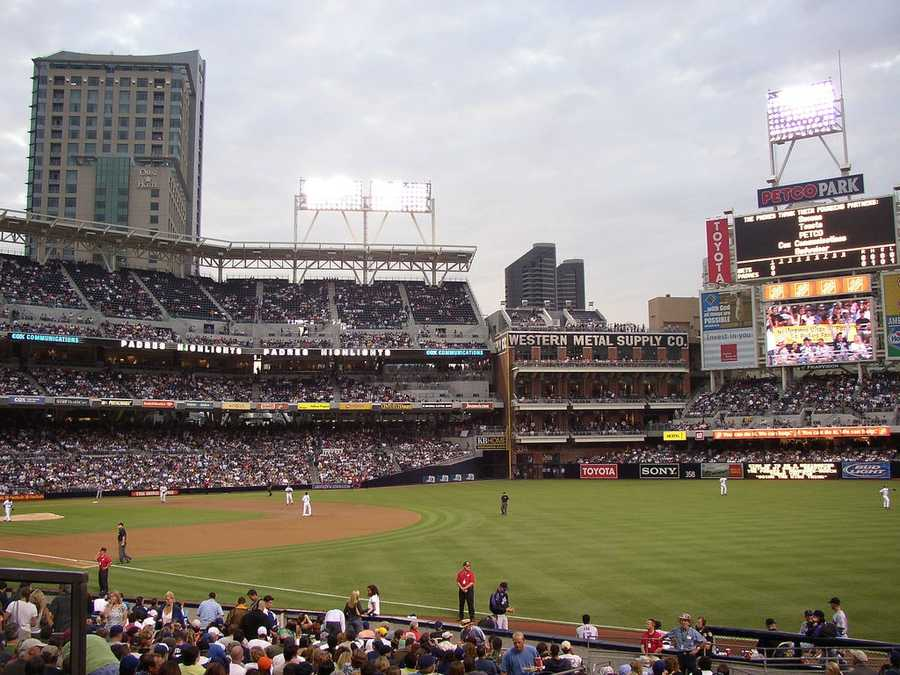 Petco Park, home of the San Diego Padres --$55 for messagedisplayedon scoreboard.