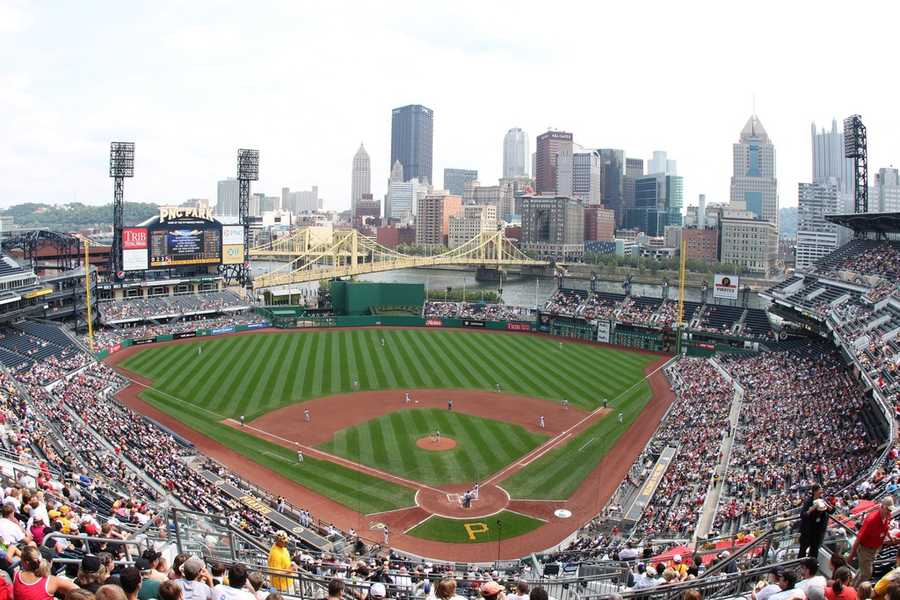 PNC Park, home of the Pittsburg Pirates --$38.50 for a messagedisplayedon scoreboard.