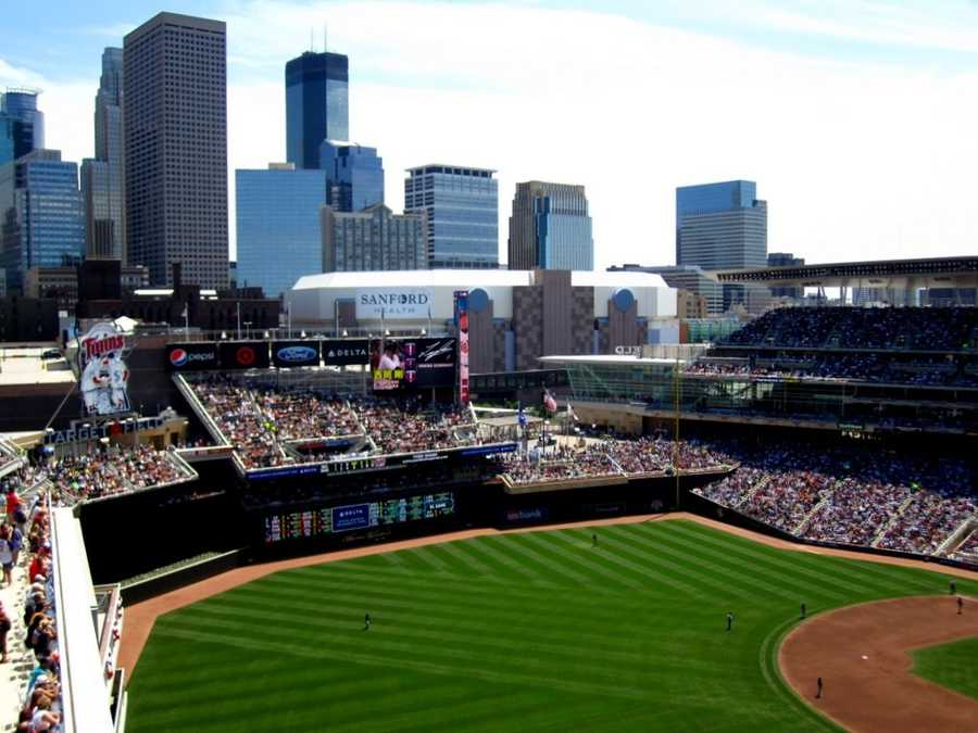 Target Field, home of the Minnesota Twins --$209 forproposal featured live on video board.