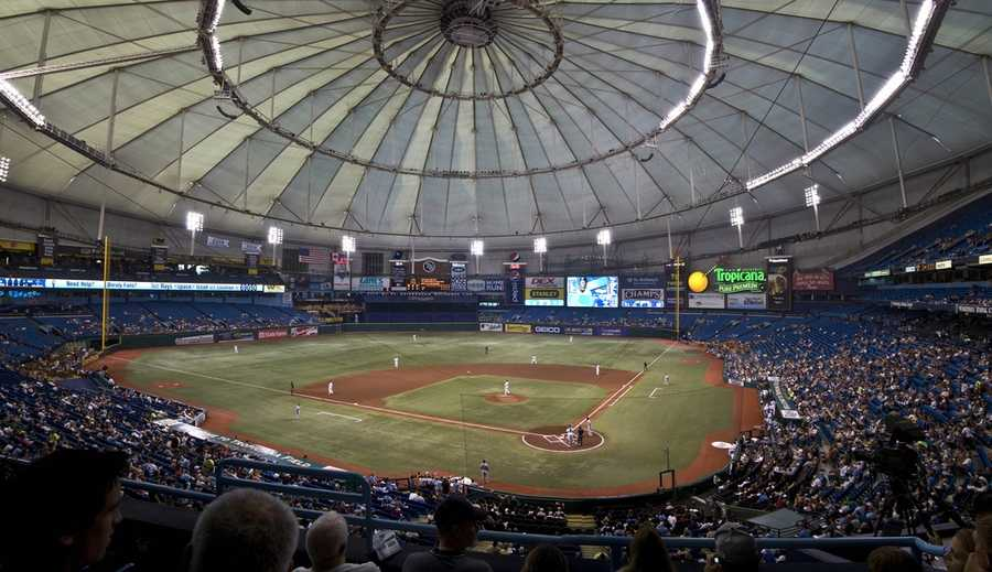 Tropicana Field, home of the Tampa Bay Rays -- $500 forproposalfeatured liveon video board. Includes a dozen roses and commemorative DVD.