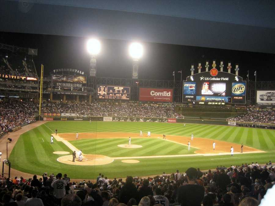 U.S. Cellular Field, home of the Chicago White Sox --$55 for messagedisplayedon scoreboard.