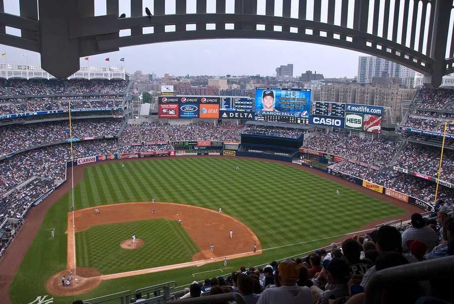 Yankee Stadium, home of the New York Yankees --$100 for messagedisplayedon scoreboard.
