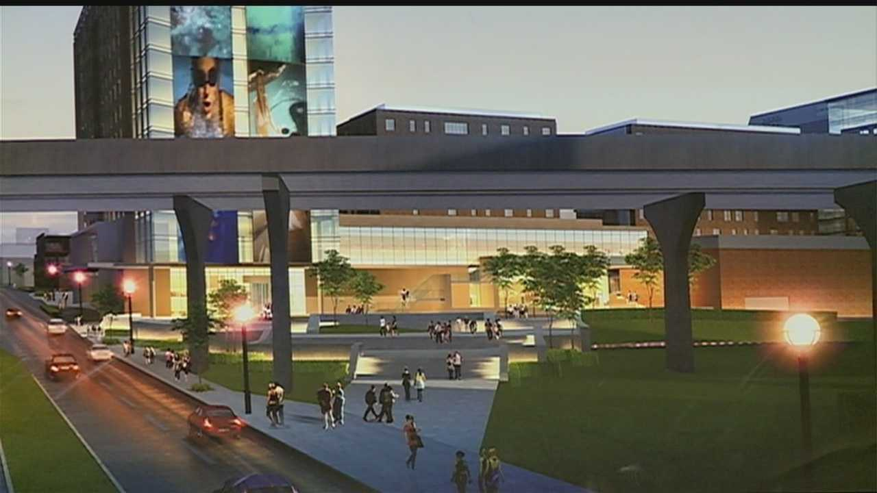 The City Council gave first-round approval to a new entertainment development in downtown Omaha near the CenturyLink Center.