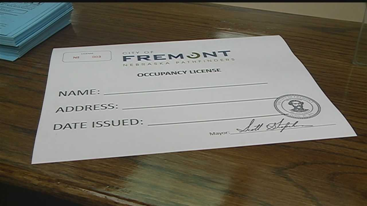 The small Nebraska city of Fremont has started requiring $5 licenses for anyone who wants to rent there as part of rules aimed at battling illegal immigration.