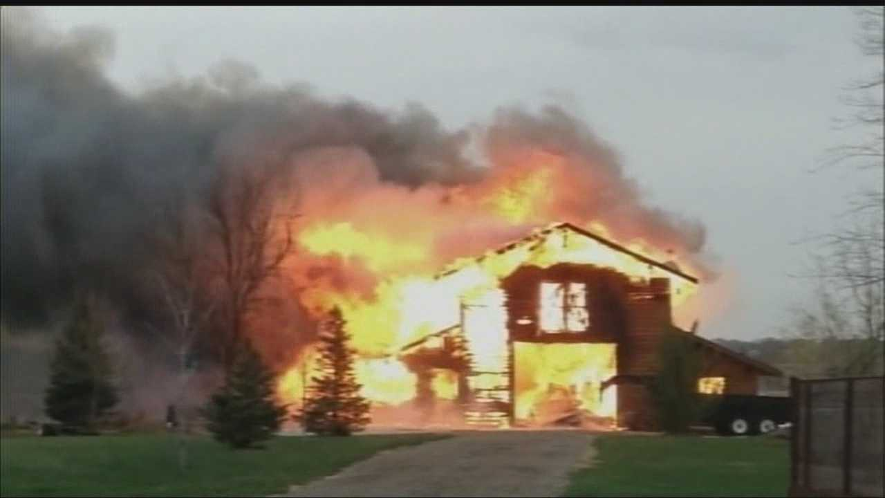 Flames destroy newly finished barn