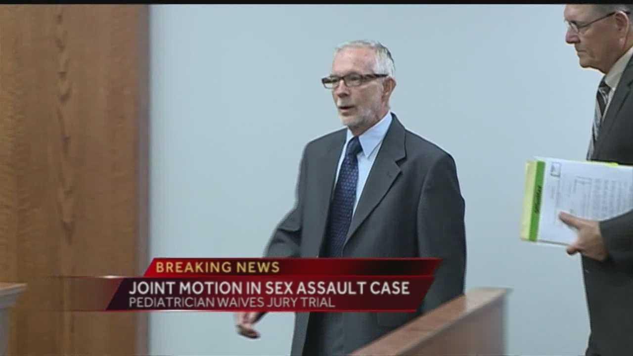 Joint motion in pediatrician sex assault case