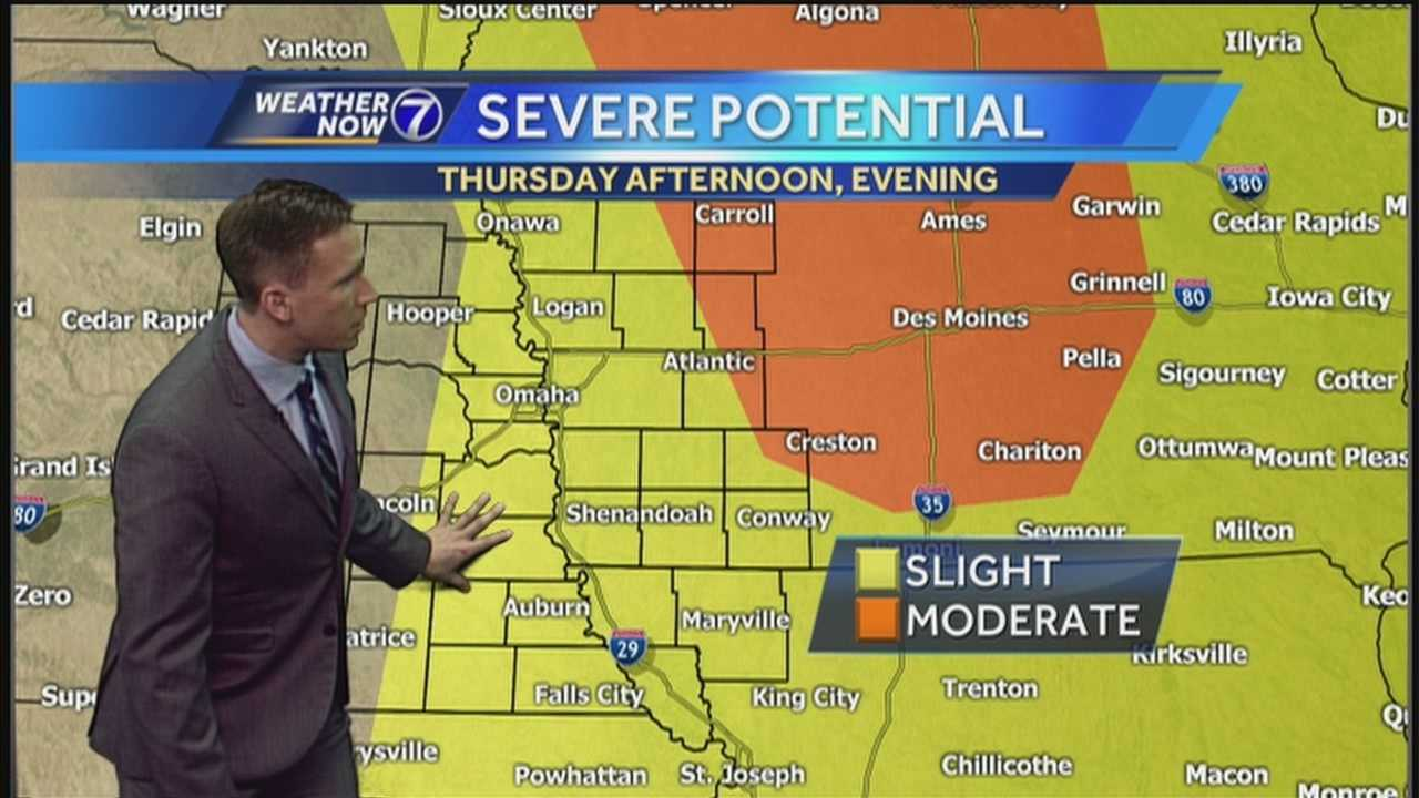 More strong to severe storms are possible Thursday afternoon. Meteorologist Matt Serwe takes you through the day hour by hour in his Weather Now forecast.