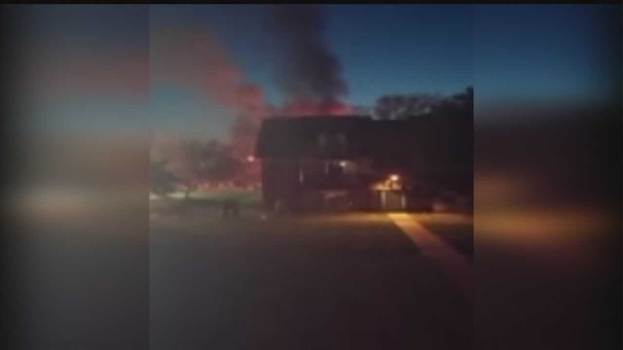 Firefighters responded to a two-alarm blaze in northwest Omaha Thursday night.