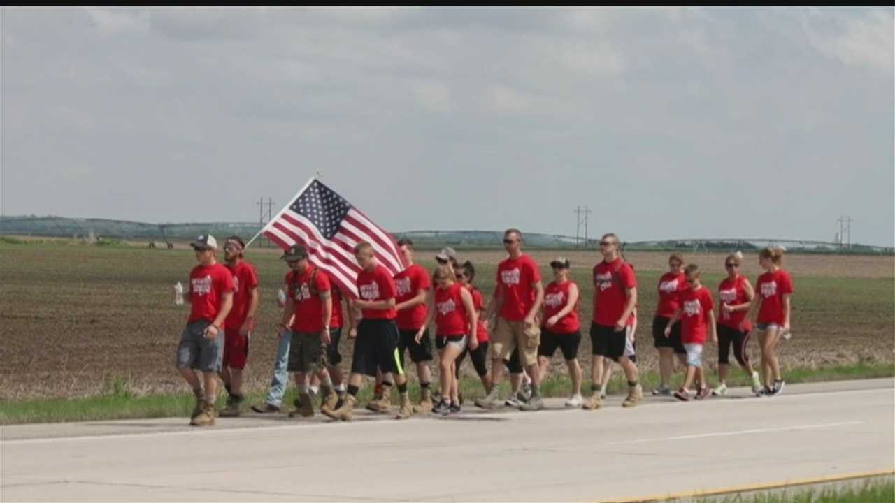 More than a dozen Nebraskans are giving up time with family and friends on Memorial Day weekend to run across the state to raise money for brothers and sisters in need.