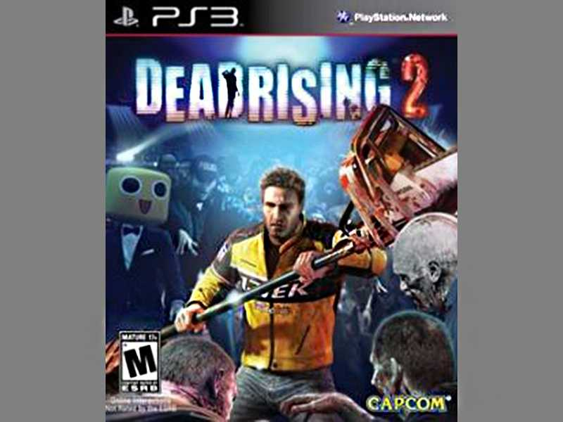 Dead Rising 2 is a zombie battle game that has an incredible amount of violence. The main character has a motorbike  with chainsaws duct-taped to its handles. There are Playboy ads in the mall and scandalously dressed waitresses. The character also drinks alcohol to restore his health, then vomiting it back up if he drank too much.