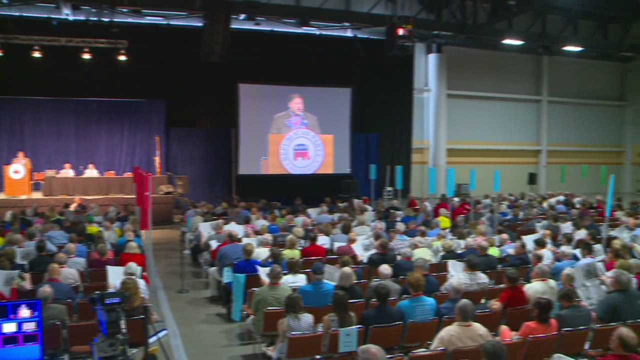 Republican delegates from around the state were in Des Moines Saturday to hear three potential presidential candidates.