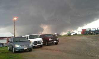 Tornadoes north of Wisner, Nebraska