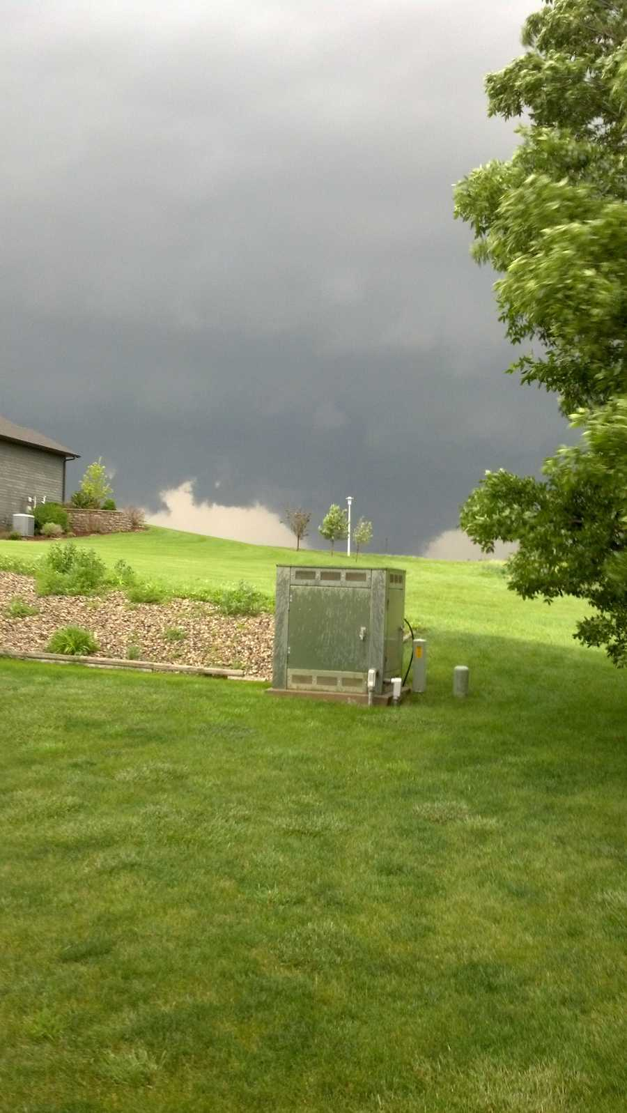 Tornado from my backyard in Wisner, NE