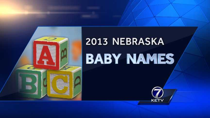 The Nebraska Department of Health and Human Services provided the list of top 10 boys and girls baby names in 2013 and 1920, starting with the most popular.