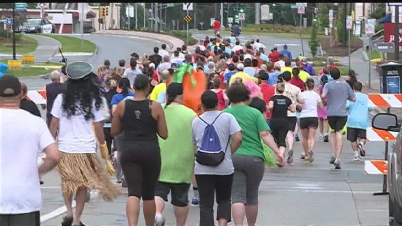 "Neither rain nor power outages were enough to keep runners away from Benson's new ""The Indie"" running event."