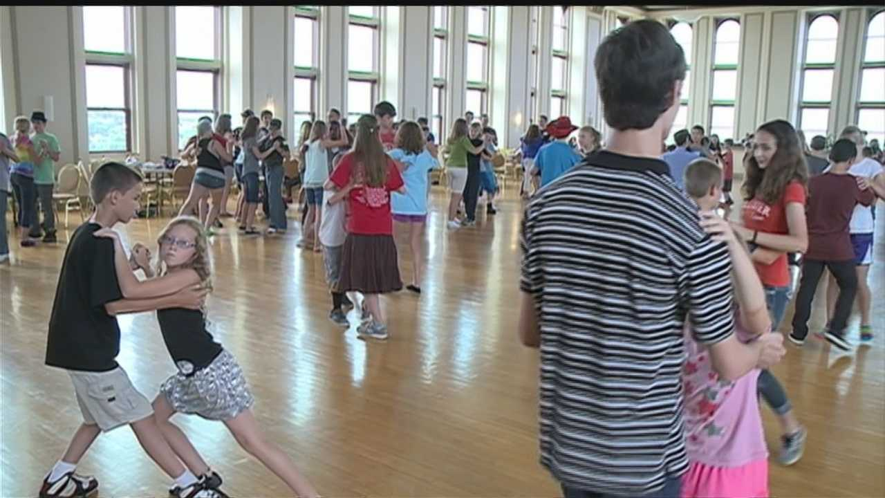 Over 200 kids strut their stuff at a week long ballroom dance camp.