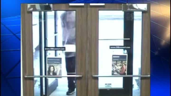Video showing suspect robbing Security National Bank