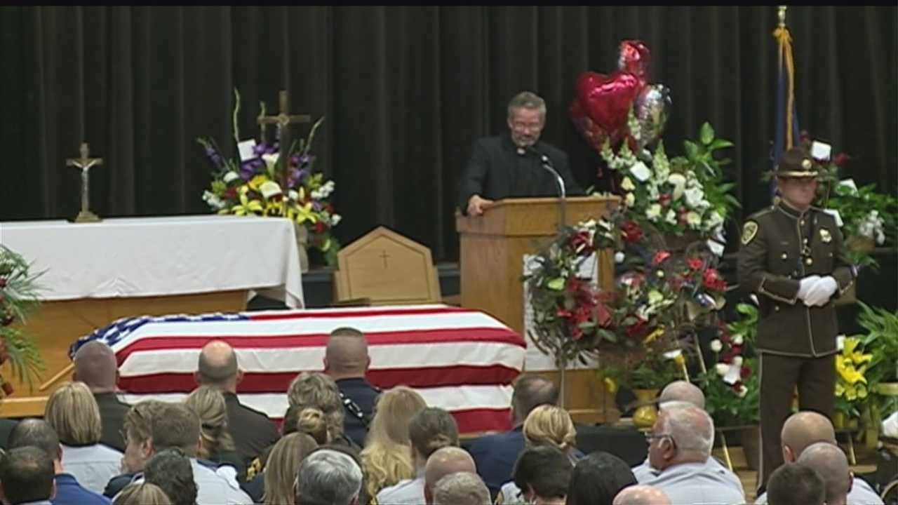 Residents in Butler County gather to remember and celebrate the life of Sheriff Mark Hecker, who died last Tuesday