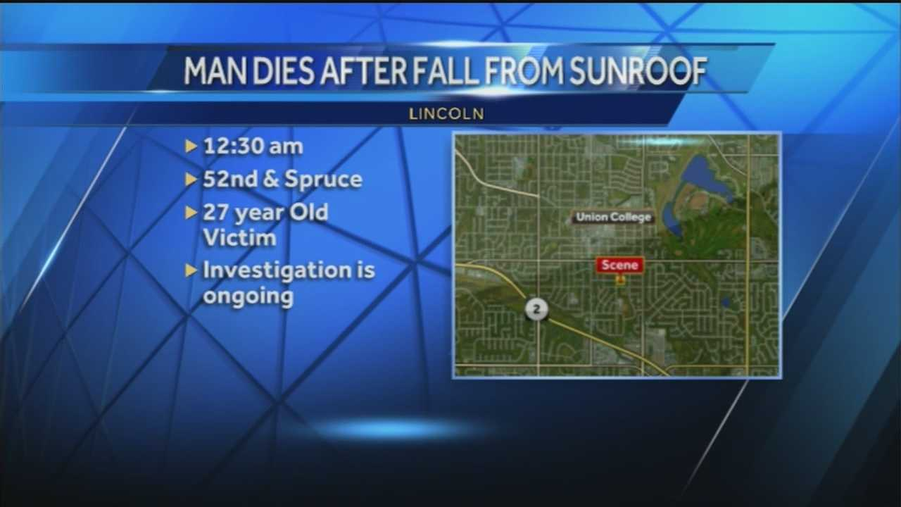 Man dies after reportedly falling from SUV's sunroof Sunday
