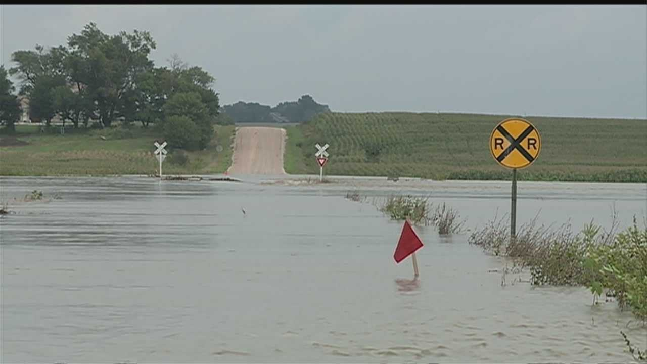 Officials closed Highway 77 and 92 into Wahoo on Thursday afternoon.