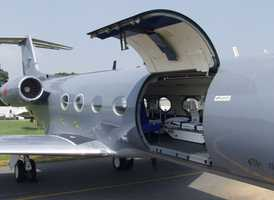The patient was brought to the U.S. in a specially-outfitted Gulfstream III.