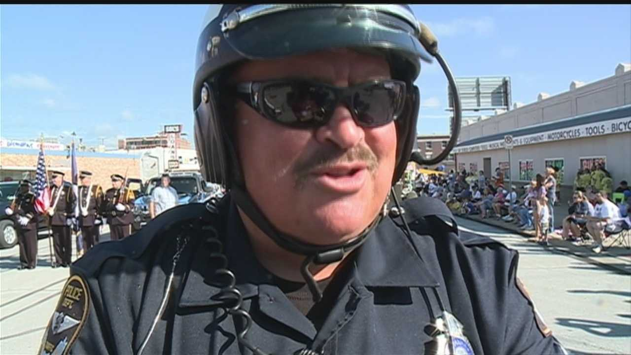 After more than two decades on the job, an Omaha police officer is finally saying goodbye.