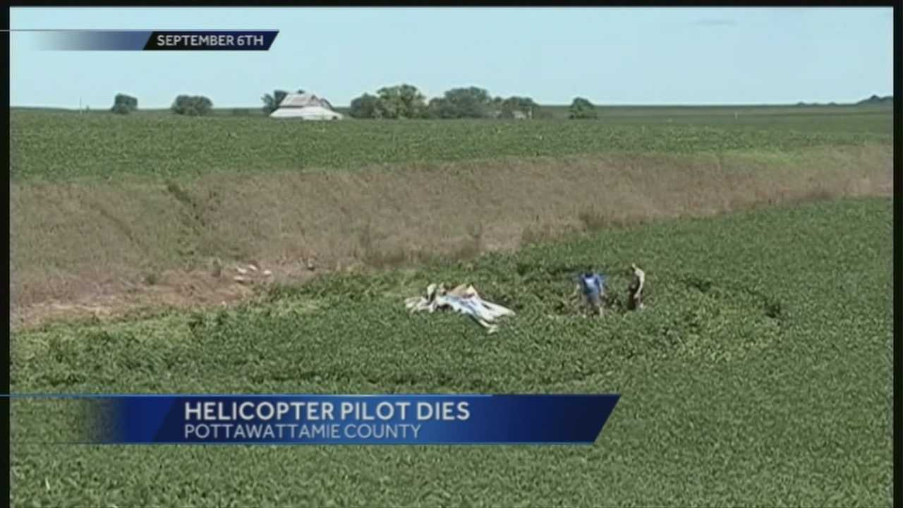 A helicopter pilot who crashed in western Iowa over the weekend passed away.