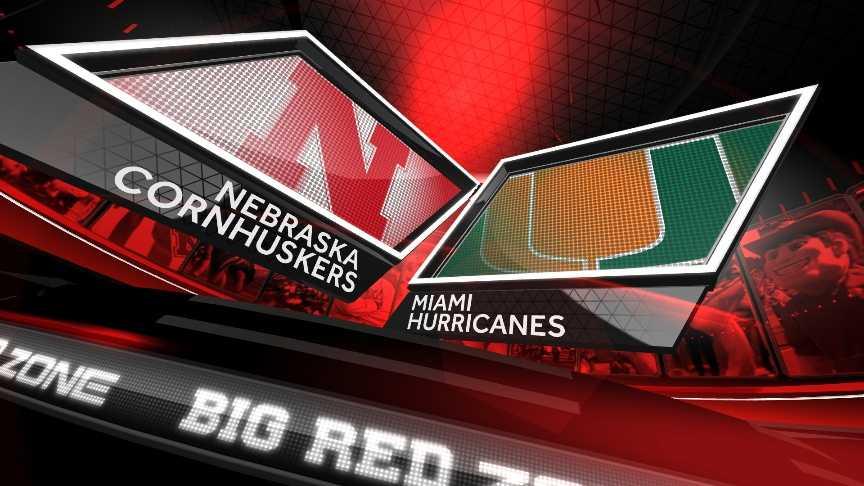 Nebraska vs. Miami graphic