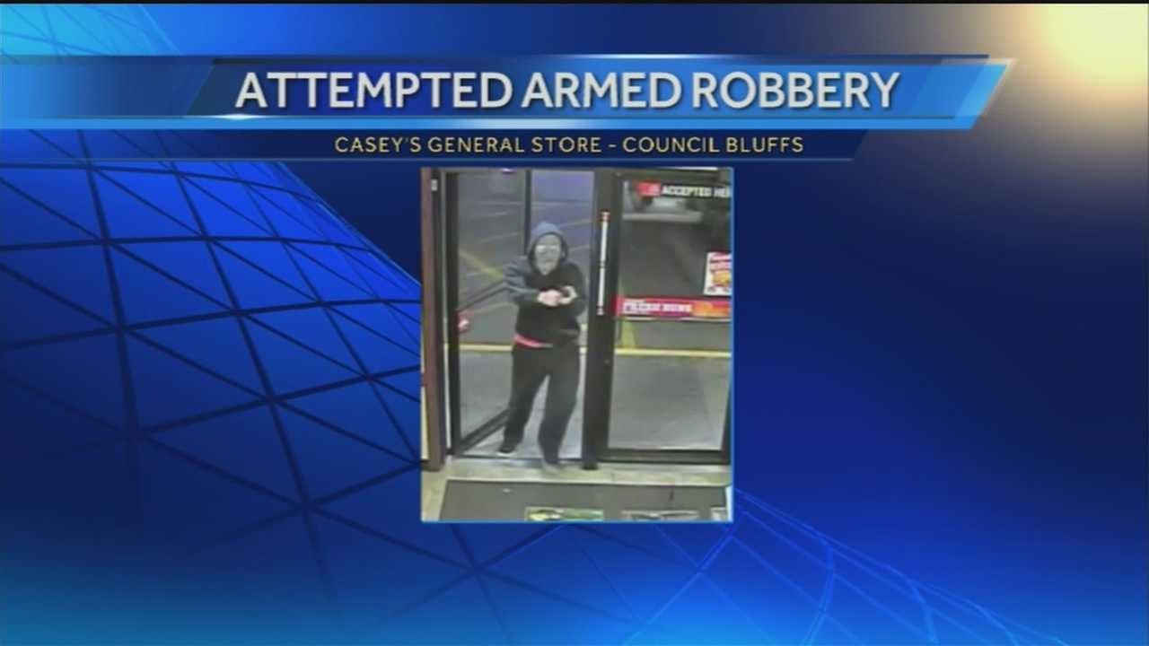 Surveillance captures a Council Bluffs robbery at the Casey's General Story on 23rd Avenue and South Expressway around 6:30 a.m. Wednesday.