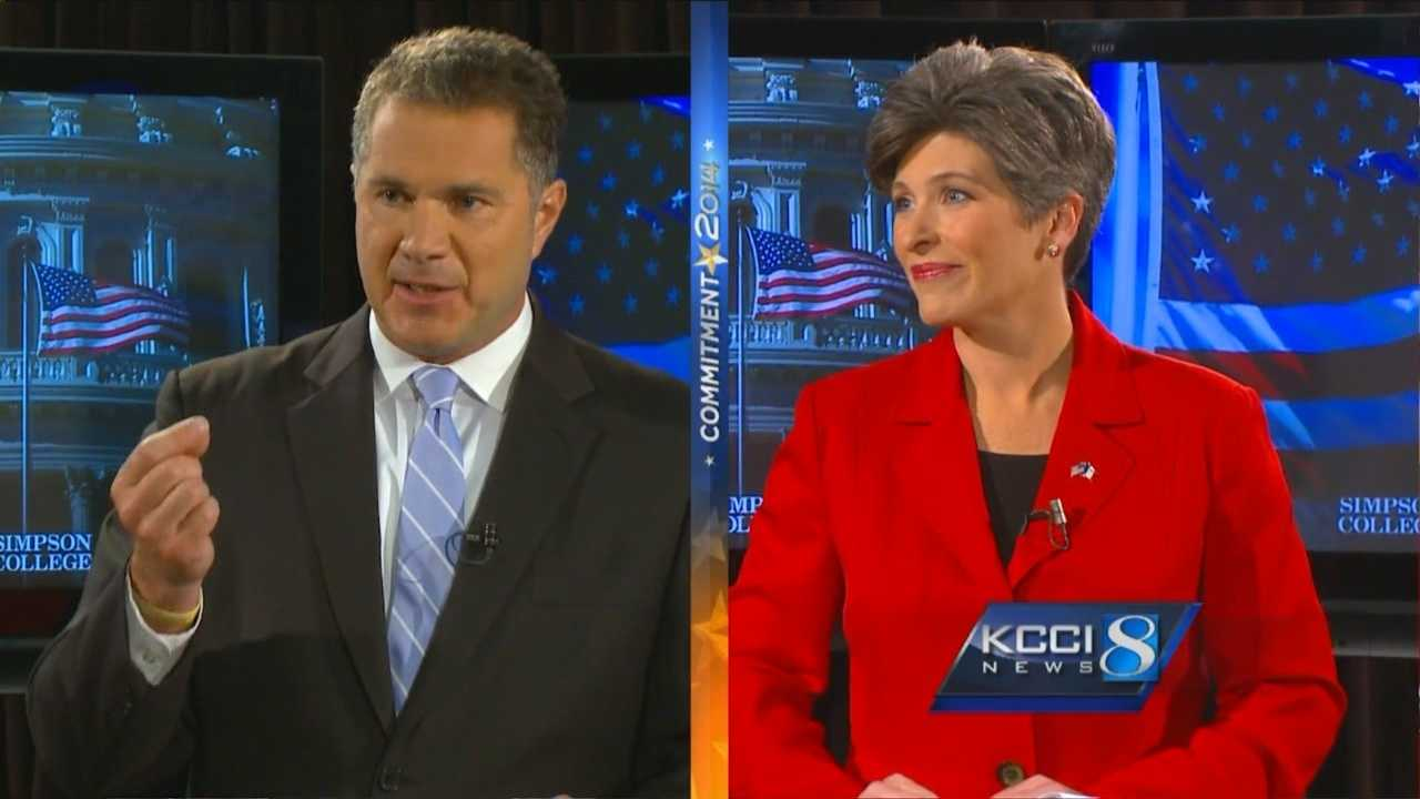 In their first debate, U.S. Senate candidates Bruce Braley and Joni Ernst exchanged some heated remarks Sunday.