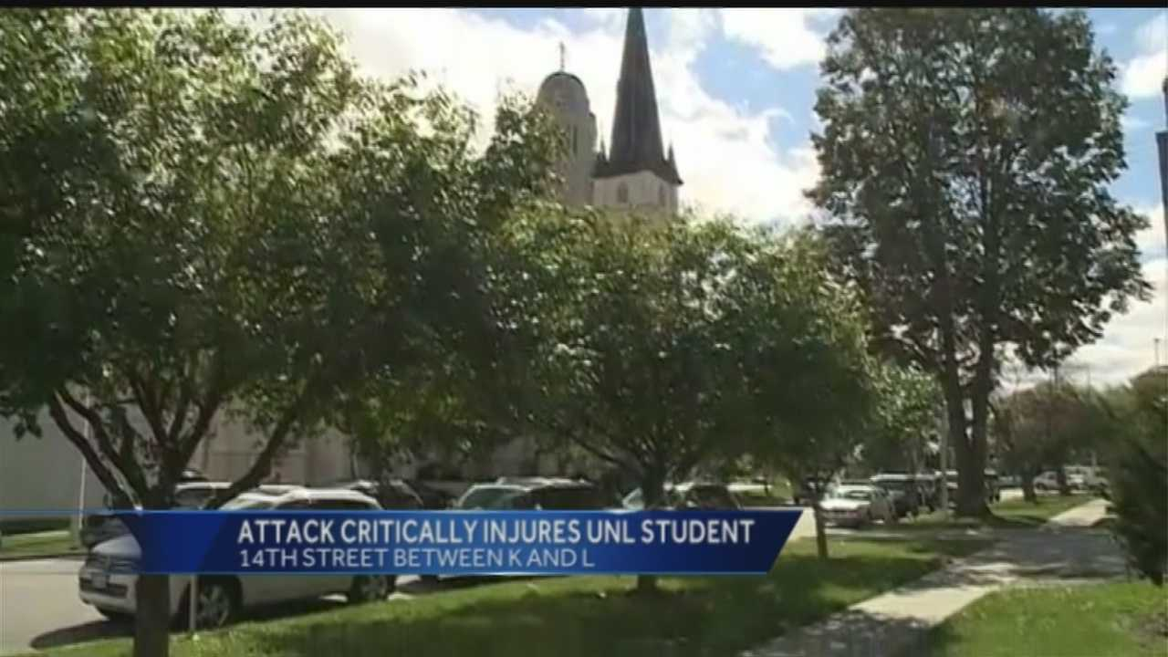 Police in Lincoln said a 22-year-old student and his friend were attacked near the State Capitol early Friday.
