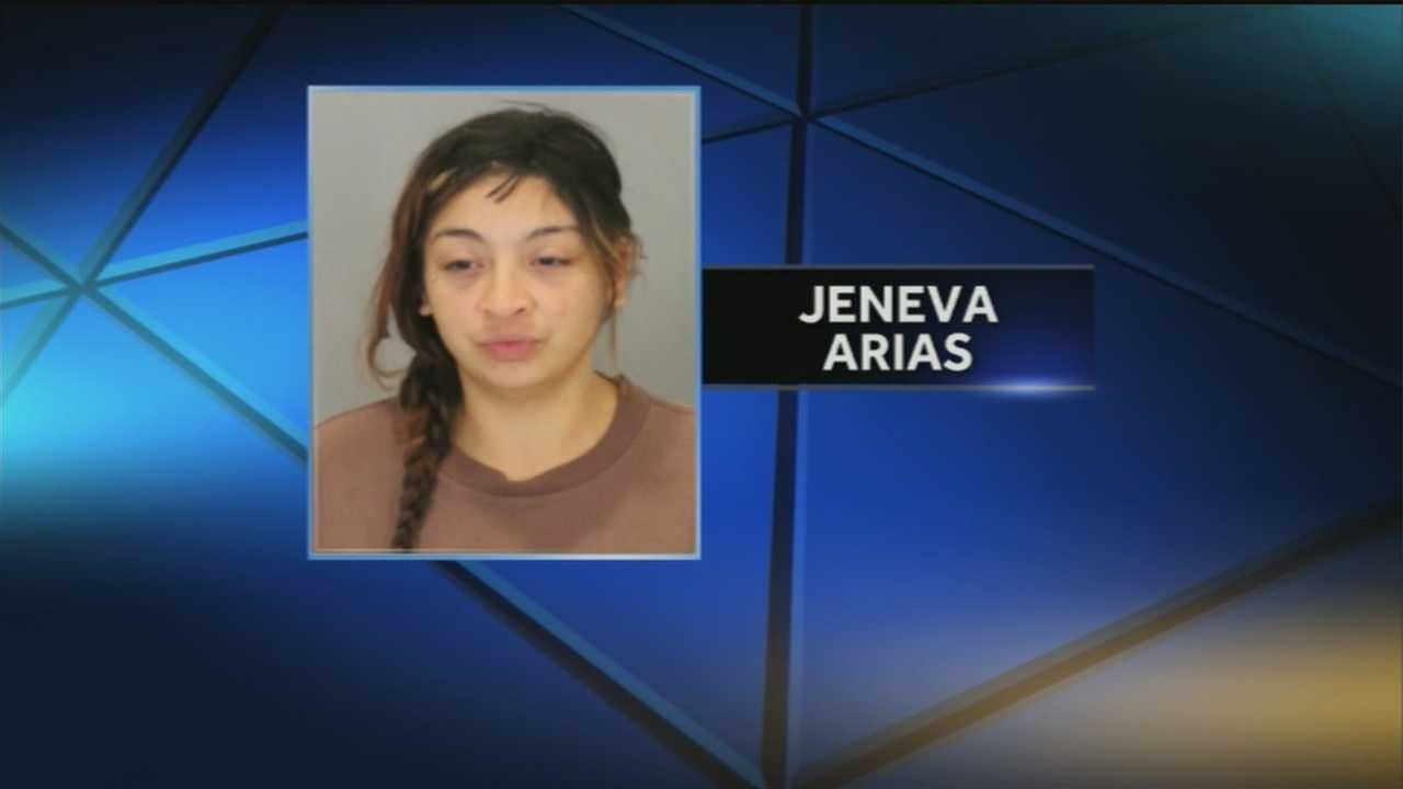 Just days after a Douglas County inmate allegedly burned a medical technician's eyes with liquid, Jeneva Arias is now accused of breaking a corrections officer's hand.