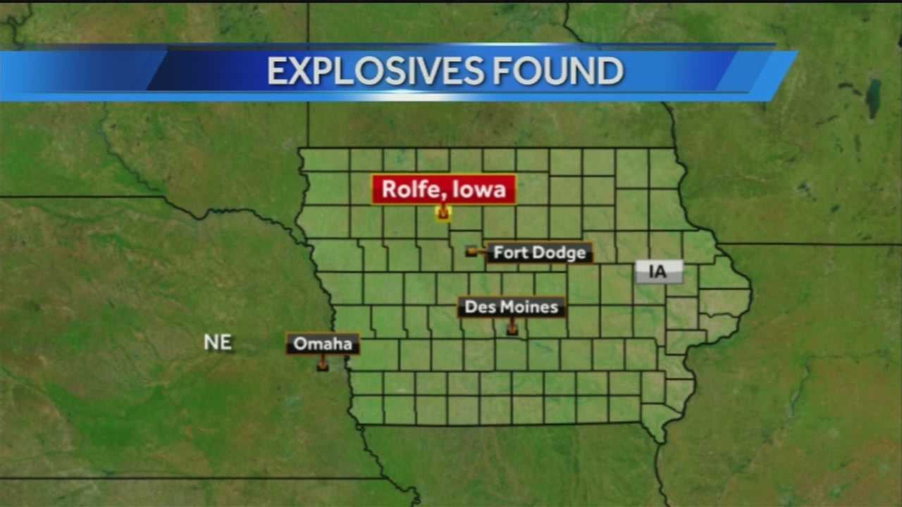 The Omaha Bomb Squad, along with the FBI and other Iowa law enforcement, spend the day in Rolfe, Iowa.